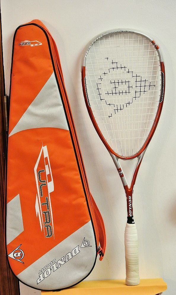 Dunlop N Ultra N FIL Squash Racquet/Racket GREAT SHAPE FREE SHIPPING W/COVER