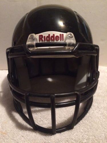 Riddell Revo Edge Football Helmet Black w/ Black Facemask Youth Medium
