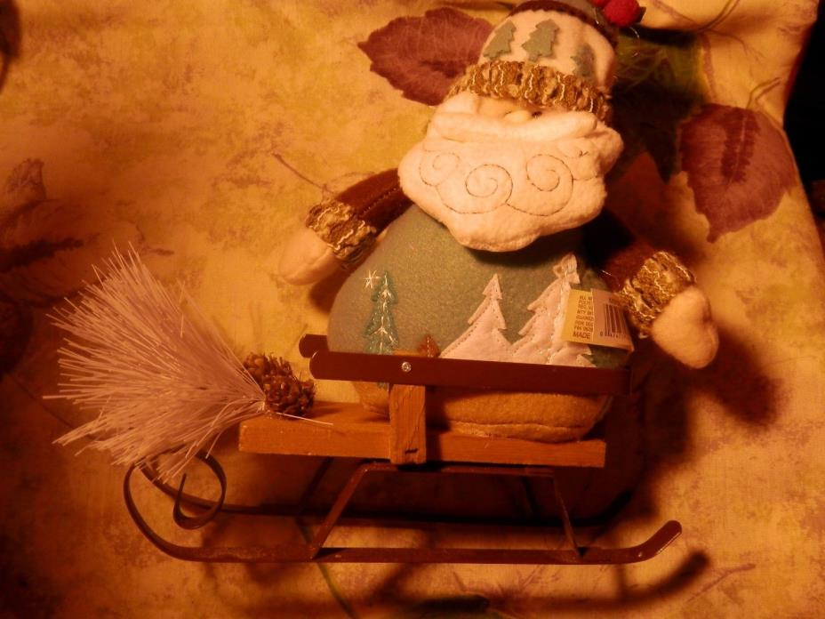 NEW Holiday Time Iceland Santa (table decor)
