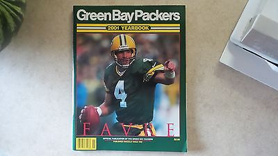 2001 Green Bay Packers Yearbook Brett Favre