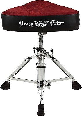Red Velvet Motorcycle Drum Throne