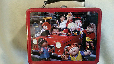VINTAGE CABBAGE PATCH TIN METAL LUNCH BOX