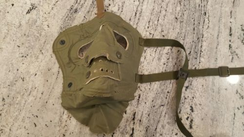 vintage face shield strap mask government issue