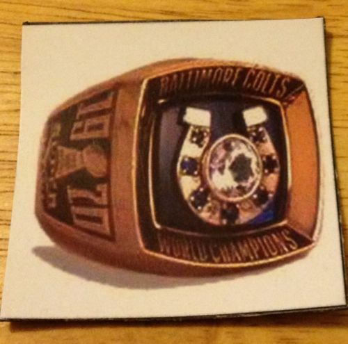 Baltimore Colts / Ravens Super Bowl rings (2) picture magnet 2x2 inches