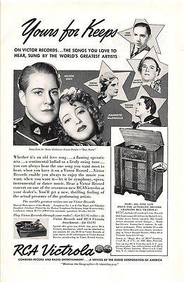 Print Ad 1938 RCA Victrola | Victor Records