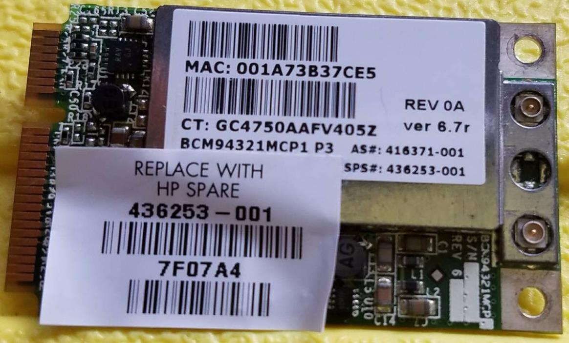 Broadcom BCM94321MC BCM4321 Draft 802.11n WLAN Wireless Dual Band PCI-e Card