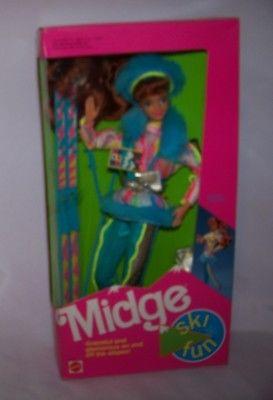 1991  Mattel Barbie Ski Fun Midge Doll NRFB