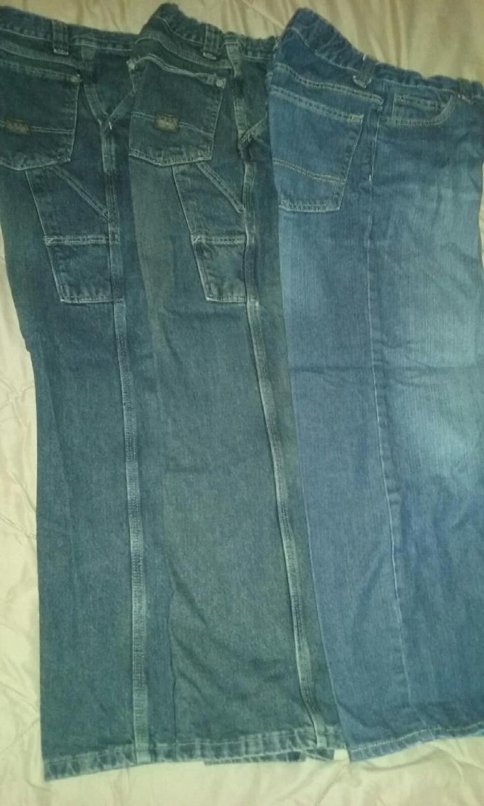 Boys Jeans size 14R lot of 3 pairs with adjustable waist..Great Condition !!
