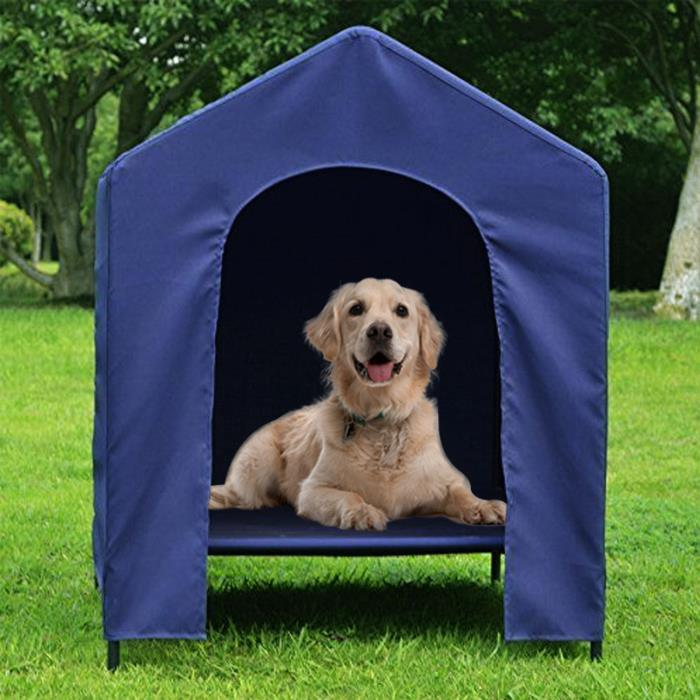 Portable Dog Cat Tent Kennel Indoor Outdoor 70lb Pet Doggie Blue Puppy Bed House