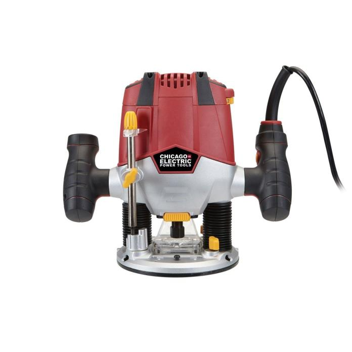 Chicago Electric 1.5 HP HD Variable Speed Plunge Router 10 amp Wood Shape Dado
