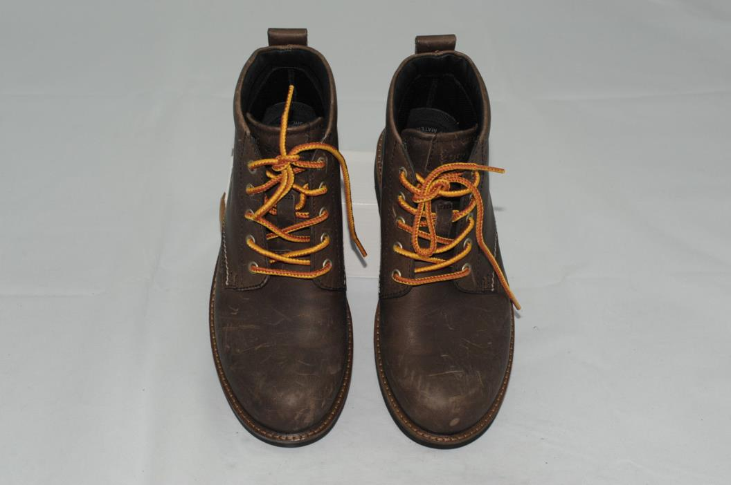 $200 NWOT Ecco Men's Leather Lace Up Boots Size EU 39 (5-5.5)