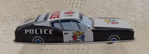 Tin Toy Police Ford Friction Car - Made in Japan