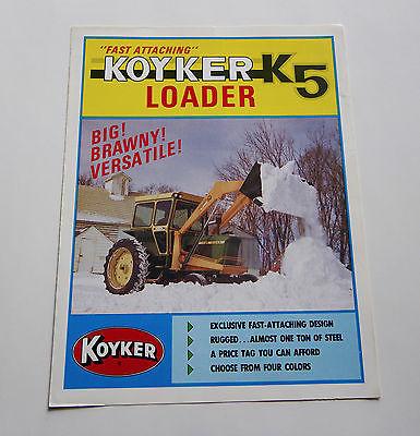 Koyker K-5 Loader Brochure Allis Chalmers One Eighty IH Farmall 1066 Tractor
