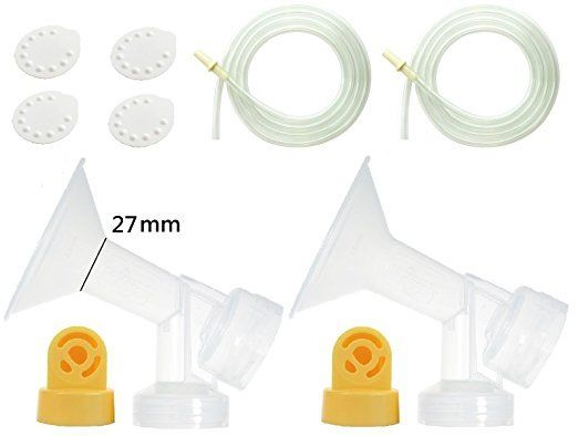 Nenesupply Breastpump kit for Medela Breastpumps with 2 Large 27mm BPA Free