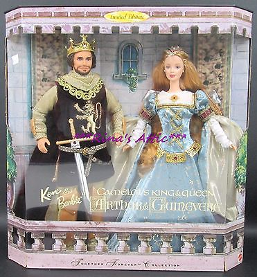 CAMELOT'S KING ARTHUR & QUEEN GUINEVERE Barbie & Ken Dolls Gift Set