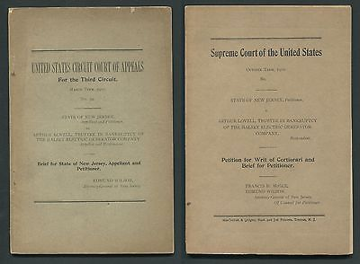 2 Original 1910 Supreme/Appeals Court Documents New Jersey VS. Halsey Tax Case