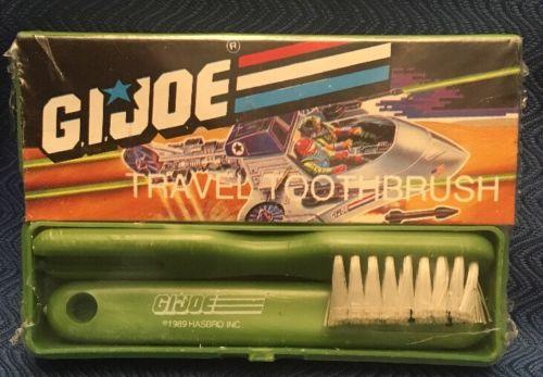 GI JOE 1980s 80s original toothbrush toy NIB army cartoon cool rare vintage free