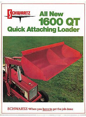1973 Schwartz 1600 QT Loader Brochure Farmall 706 Tractor