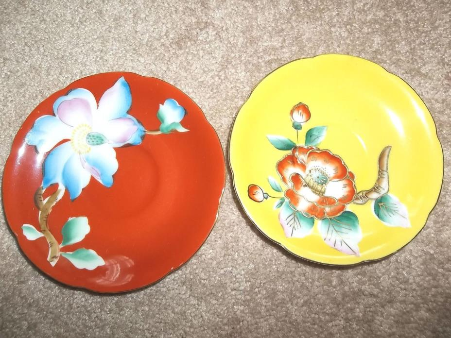 2 Hand Painted Trimont China Saucers - Made in Japan