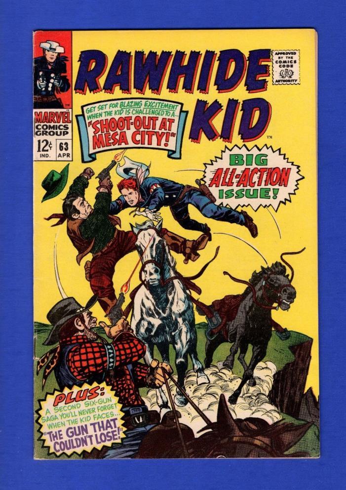 RAWHIDE KID #63 VF+ HIGH GRADE MARVEL COMICS 1968
