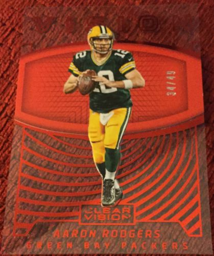 Aaron Rodgers 34/49 2016 Panini Clear Vision Vision Red Parallel #5 Packers