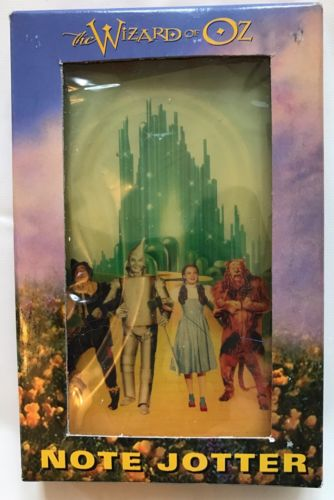 1997 Warner Bros Wizard Of Oz Note Blotter Dorothy Lion Scarecrow Tin Man NIB