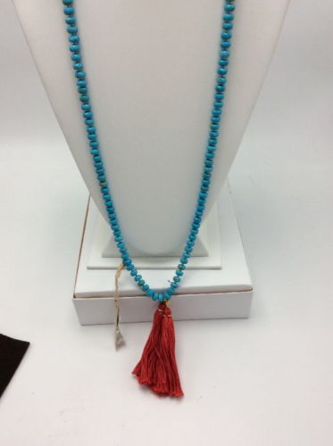 $195 Chan Luu Turquoise Beaded Necklace