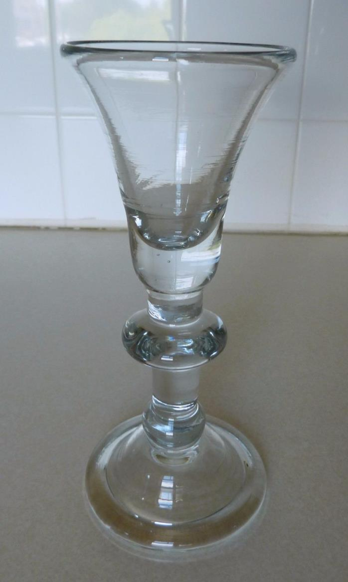 Baluster Stemmed Wine Glass  Williamsburg Reproduction  OLD!!
