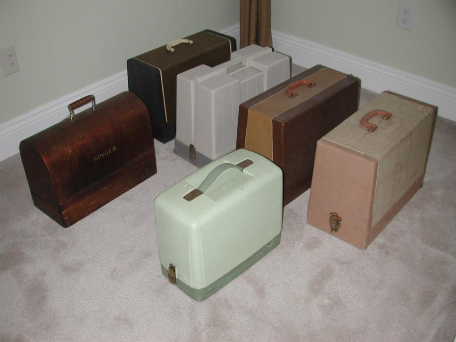 6 Vintage Sewing Machines Singer Synchro-Matic Morse Universal Fleetwood