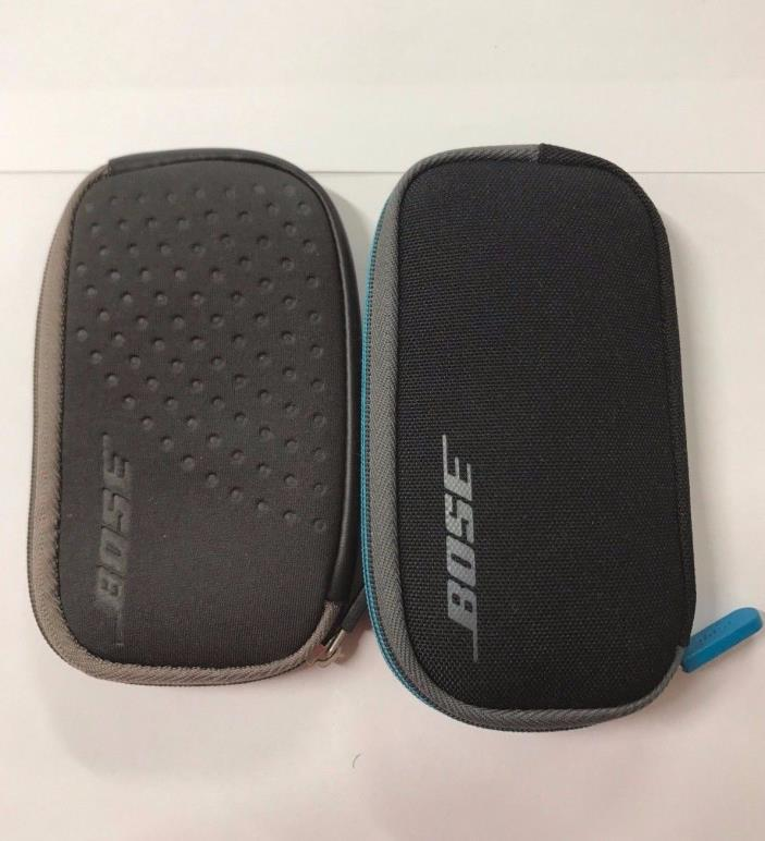 CASE Original Bose QC20 Carry Headphone Earbuds In Ear Zipper Carrying Gray Blue