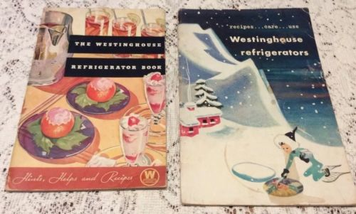 Westinghouse Refrigerator Books Vintage 1935. 1947