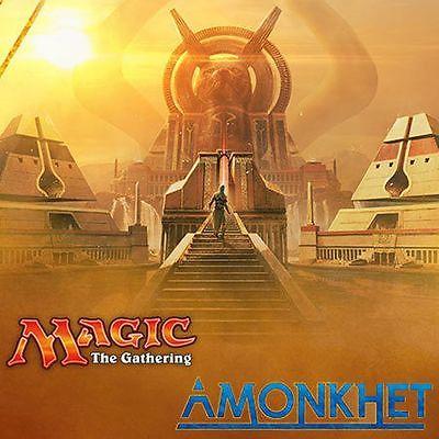MTG Magic X4 Amonkhet Complete Set + Tokens X4 WITH MYTHICS AND BONUS INVOCATION