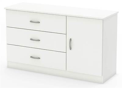 3-Drawers Dresser in Pure White [ID 3092357]