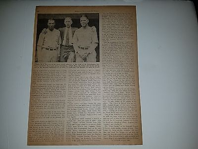 Mule Haas George Earnshaw Connie Mack John McGraw 1929 BBM Headliner Sheet