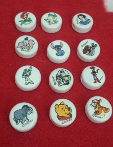 Lot of 12 Disney Vintage Ceramic Beads