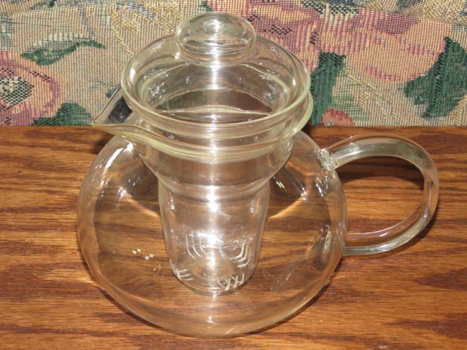 Primula Teapot with Infuser and Lid Clear Glass