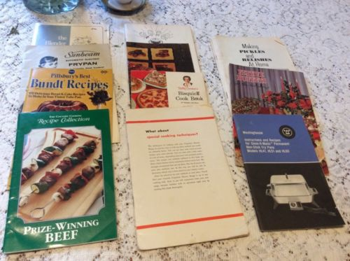 Vintage Recipe Booklets Appliance Instructions