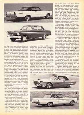 1965 FORD GALAXIE - FALCON - FAIRLANE - THUNDERBIRD ~ NEW CAR PREVIEW ARTICLE