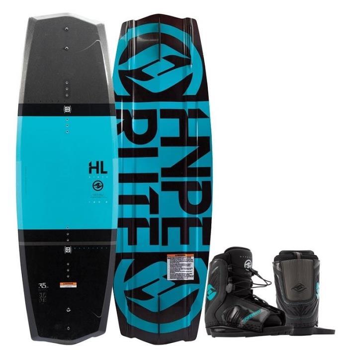 HYPERLITE 125 State 2.0 Wakeboard Package w/ Remix Boys Size 4-8 OT Bindings