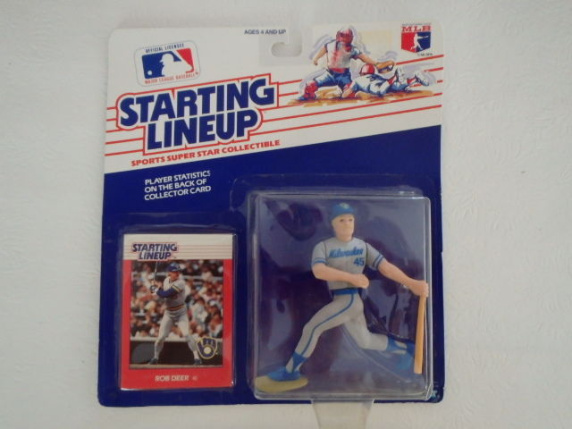 1988 Kenner Starting Lineups Rob Deer Milwaukee Brewers FREE Shipping !!