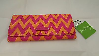 Vera Bradley Slim Long Trifold Wallet Ziggy Zags PVC - New with tags