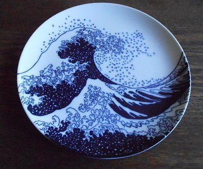 Hokusai by Taste Setter Sigma Big Blue Wave Salad Plate Japan