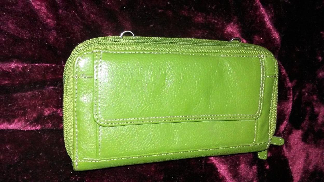 Authentic Tignanello Leather Wallet 18 Card Holders 8 Pockets Cell Pocket NWOT