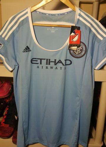 NWT Adidas NYC Football Club Womens Replica Jersey XL (Blue)