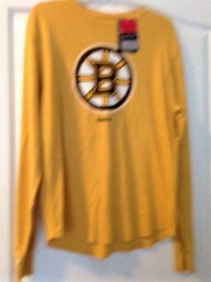 NWT Men's Size Medium NHL Hockey Boston Bruins Long-Sleeve Shirt