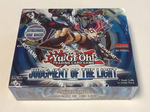 YuGiOh TCG Judgement of the Light 1st Edition English Sealed 24ct Booster Box FS