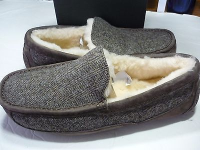 UGG ASCOT MENS SLIPPER SIZE 9 TWEED  #5347  100% AUTHENTIC NEW