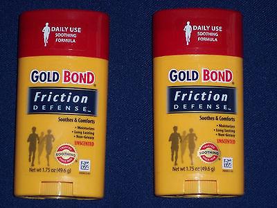 Gold Bond Friction Defense Stick Unscented 1.75 oz ( Set of Two )