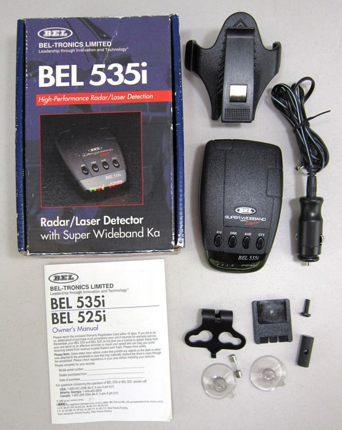 BEL 535i Radar / Laser Detector with Super Wideband Ka