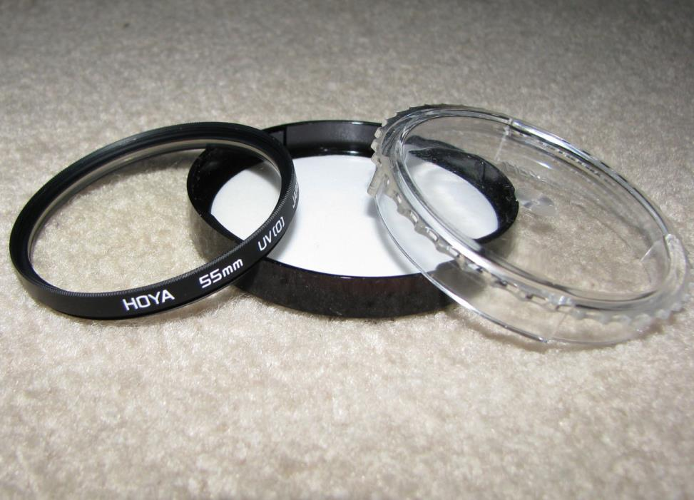 HOYA 55mm UV (0) Len Filter with Case - Made in Japan.